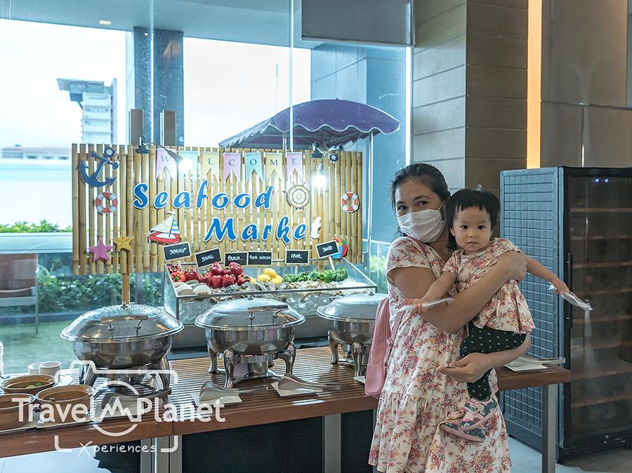 Seafood market Buffet Mercure siam Bangkok