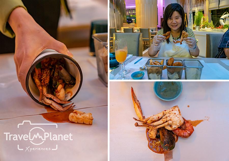 กุ้งถัง Sea-to-Table ห้องอาหาร Seasonal Tastes โรงแรม The Westin Grande