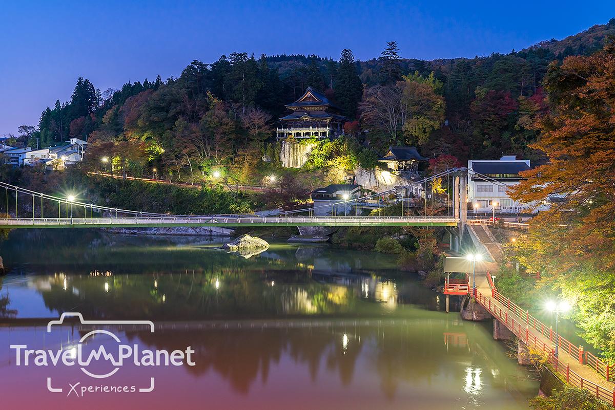 ใบไม้แดง Fukushima Koyo Tadami Enzo-ji Temple