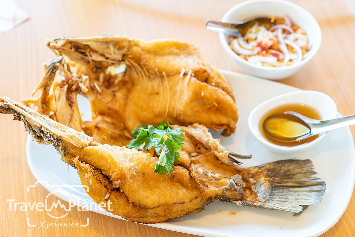 เสวย พัทยา Savoey Terminal 21 Pattaya ปลากระพงทอดน้ำปลา