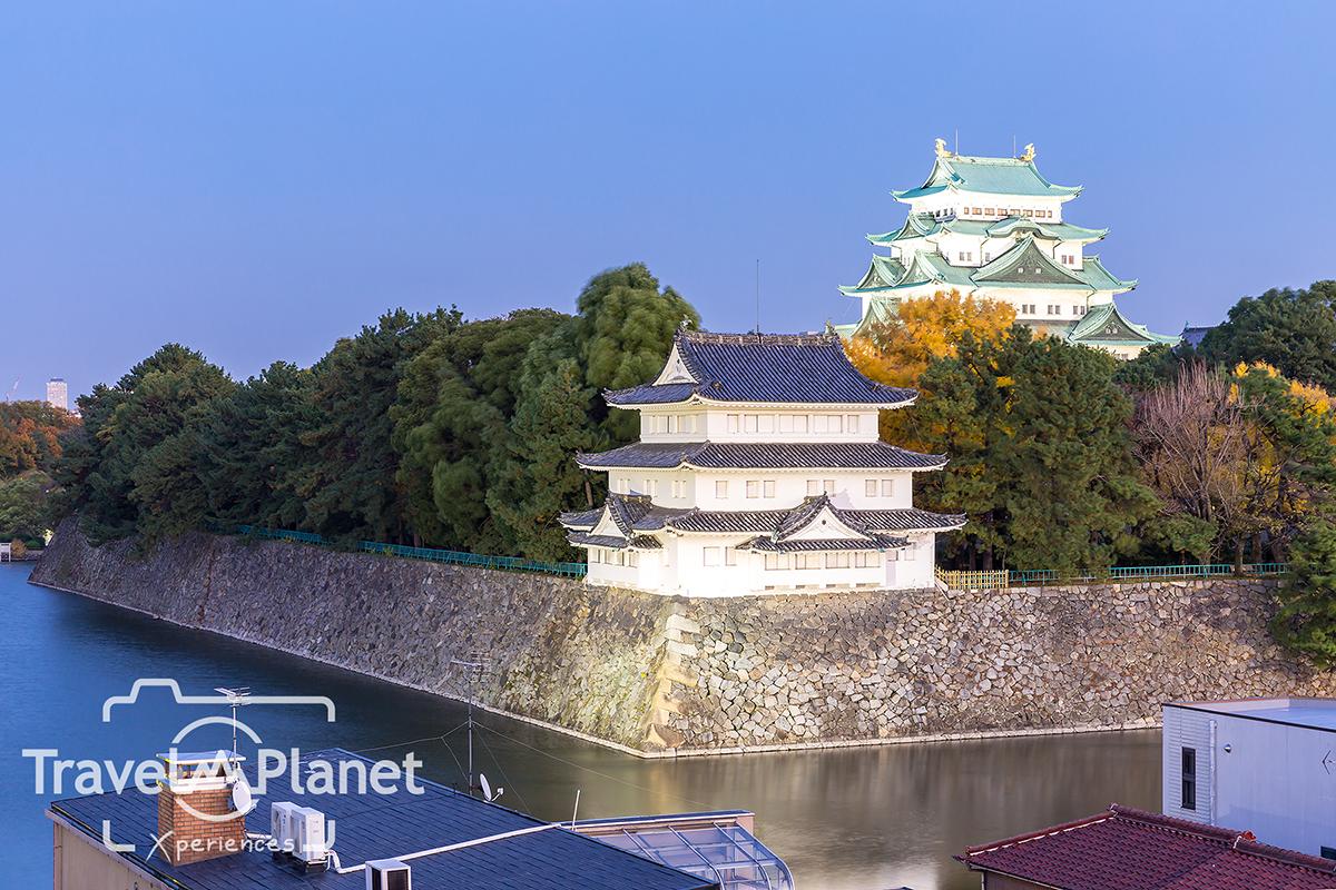 Nagoya Castle, Japan at sunset