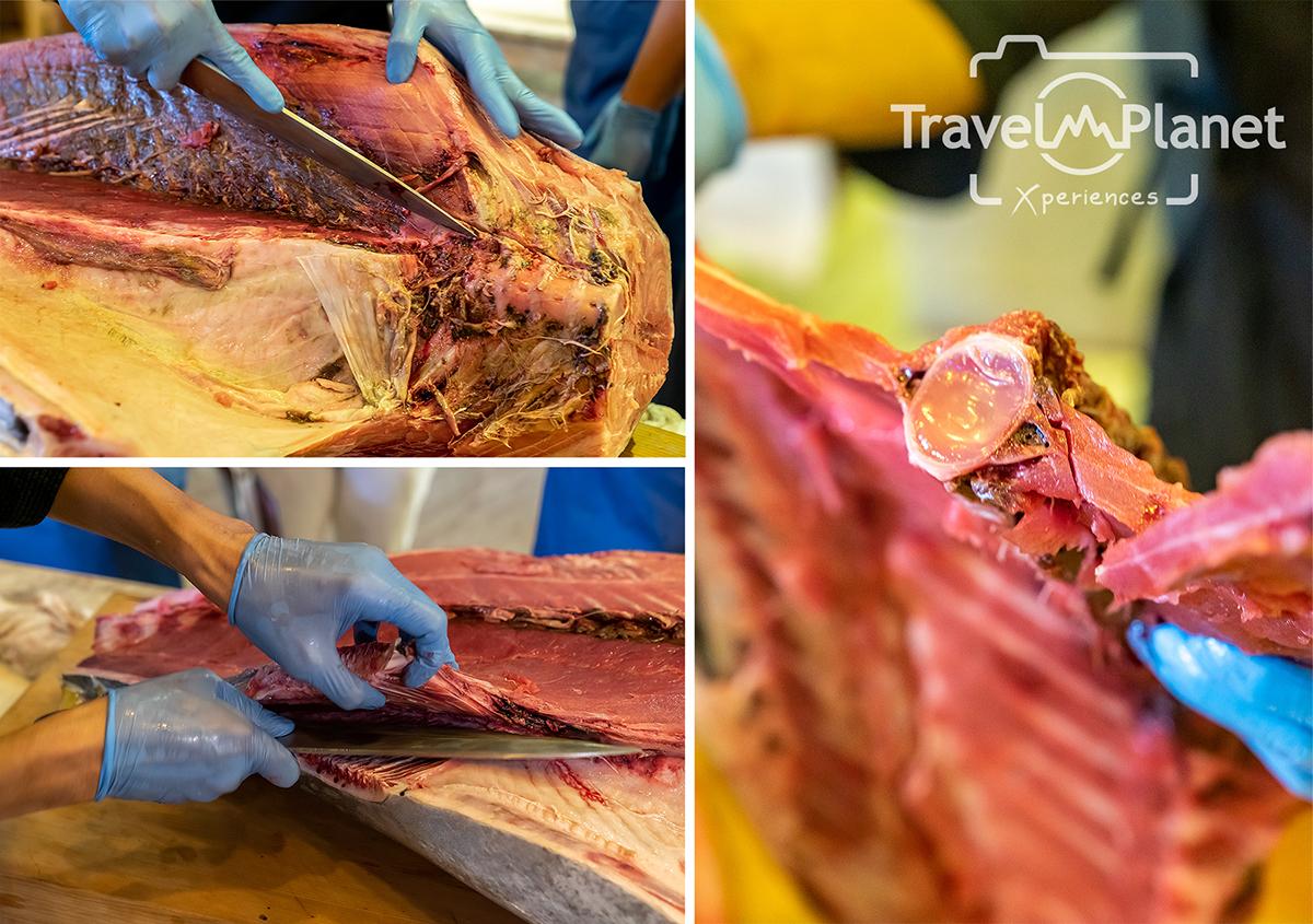Hoshi Restaurant ปลามากุโระ ทูน่าบลูฟิน โชว์แล่ปลา