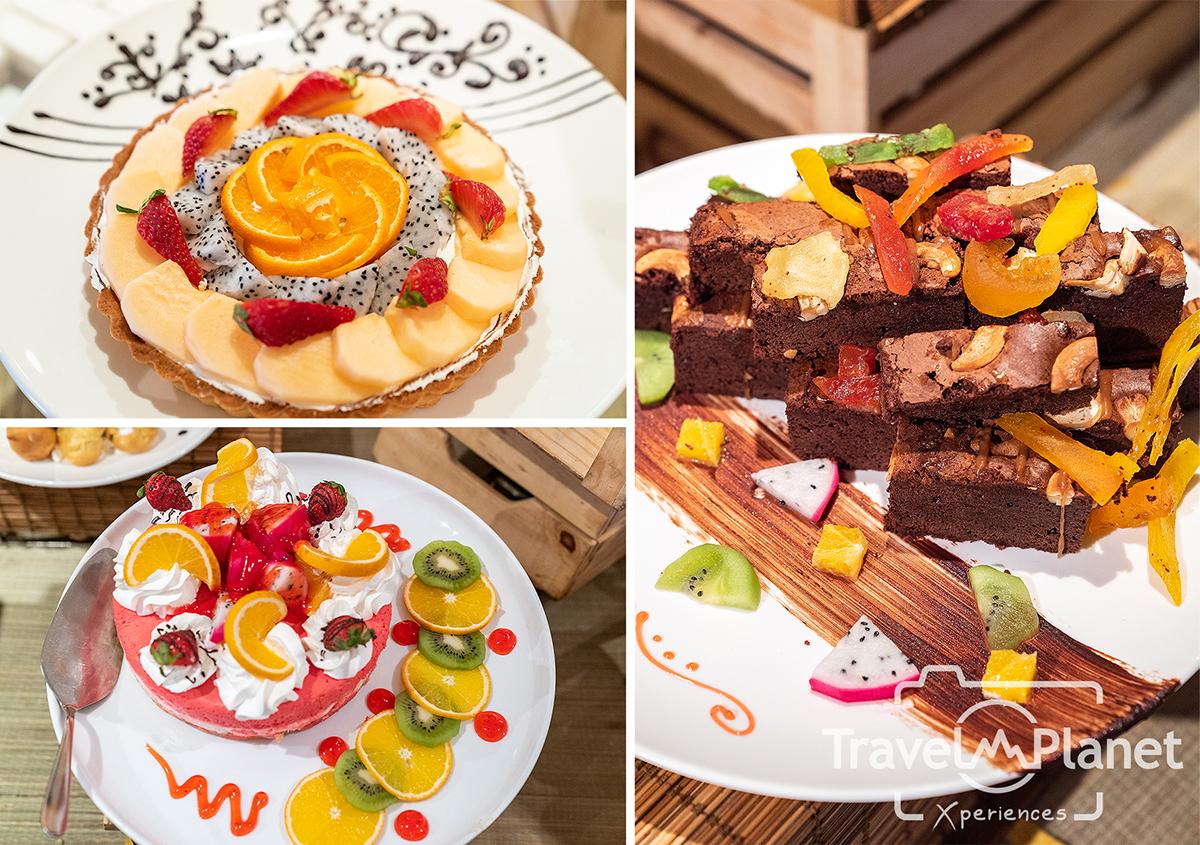 บุฟเฟ่ต์กุ้งเผา ร้านอาหารเดอะสแควร์โรงแรมโนโวเทล กรุงเทพ ฟีนิกซ์ สีลม ผัดไทย หอยทอด ของหวาน